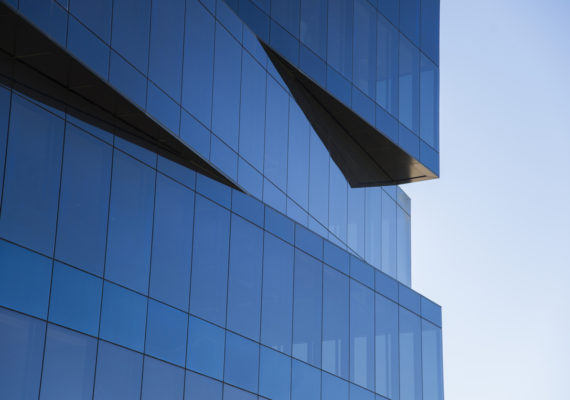 A modern office building detail